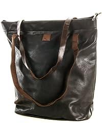 804e9fd7ef590 Schultertasche Shopping Bag Vintage Tasche Shopper mit Henkel Handtasche  TOP TREND (Schwarz)