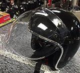 Motorcycle Storehouse Biltwell Bubble Visière de casque Jet pour Harley Honda Yamaha Kawasaki Suzuki Triumph Guzzi Transparente