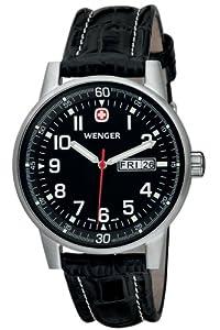 Reloj de caballero Wenger Commando 70164 de cuarzo, correa de piel color negro de Wenger