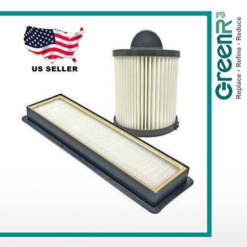 GreenR3 Luftfilter-Set für Eureka EF6 passend für Eureka EF6 69963 Air Speed AS1001A AS1004A AS1002A Rückspulen Pet AS1041A AS1041A 83091-1 Staubsauger Inklusive 1 x HEPA-Filter + 1 x Staubbecher. - Eureka-ersatz-filter Staubsauger