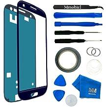 MMOBIEL Kit de Reemplazo de Pantalla Táctil para Samsung Galaxy S3 i9300 i9305 / S3 Neo i9301 Series (Azul) incluye Kit de Herramientas de 11 piezas con etiqueta precortada / Limpiador de microfibra / alambre Metálico