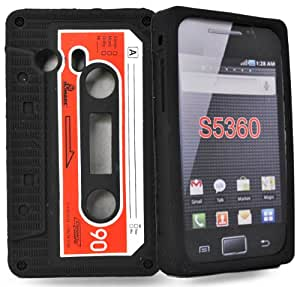 Accessory Master- Noir cassette Housse silicone pour samsung galaxy s5360