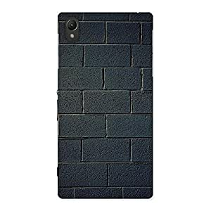 Cute Black Brick Wall Back Case Cover for Sony Xperia Z1