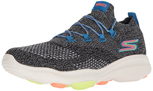 Skechers Men's Go Walk Revolution Ultra Sneaker, Black/Multi, 12.5 M US
