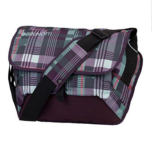 BrunottiMessenger Bag Lined Check Mangistan - Borsa messenger Unisex �?Adulto Multicolore (Mehrfarbig (Lined Check Mangistan 201))