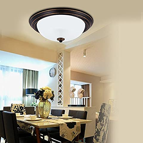 YUPD@Lampada da soffitto Plafoniere LED tondo Lampade da soffitto d'epoca , diameter 39cm warm (Acquario Light Fixtures)
