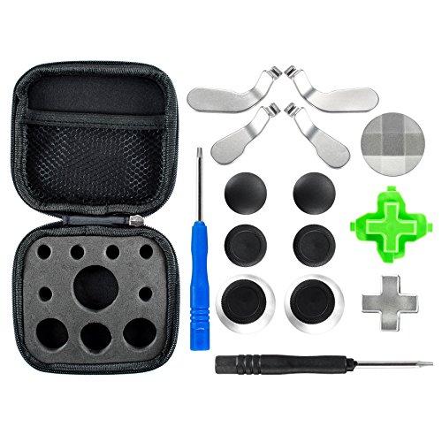 eXtremeRate Xbox One Controller Thumbsticks D-Pad Sticks Paddles Kappen Analogsticks Tasten Set mit Schraubendreher für Xbox One Xbox One Elite Xbox One S Controller(18 Teiliges Set)