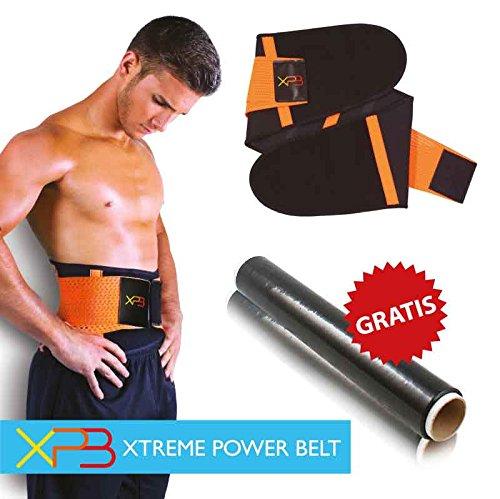 XTREME POWER BELT (L) - Fascia lombare snellente dimagrante addominali contenitiva cintura fitness