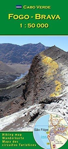 Cabo Verde: Fogo, Brava 1 : 50000 (Cape Verde hiking map series) by Attila Bertalan (2015-01-01)
