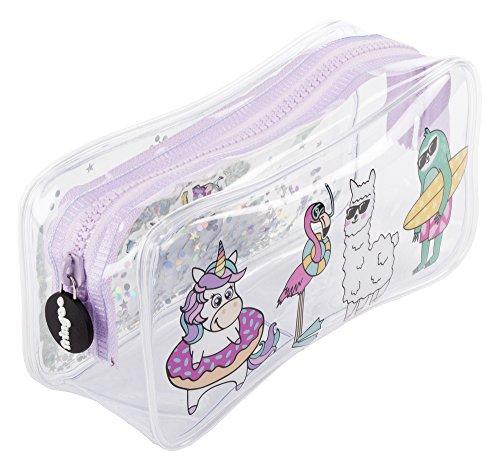 FRINGOO® Estuche de lápices líquido para niñas ver a través de una gran bolsa de papelería regalo para adolescentes, color Dream Team Large