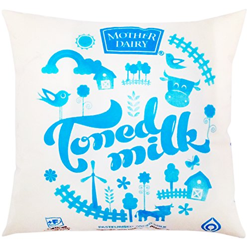 Mother Dairy Toned Milk, 500ml Pouch