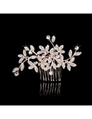 Yu* Femmes épingle à cheveux en or peigne / strass cristaux / accessoires de cheveux de mariage Party / Bridal Jewelry