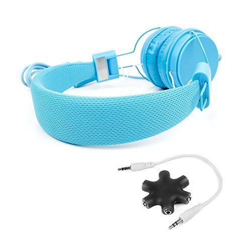 DURAGADGET KIT - Auriculares De Diadema Color Azul + Divisor Negro Para Nintendo 3DS XL - ¡Ideal Para Combinar Con La Consola De Sus Hijos!