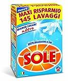 Sole Bianco Solare Detersivo Lavatrice Polvere, 145 Lavaggi
