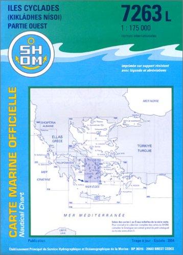 Carte marine : Îles Cyclades (partie Ouest) par Cartes Epshom