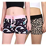 Romano nx 100% Cotton Shorts with Side Pocket for Woman - Combo (Pack of 2)