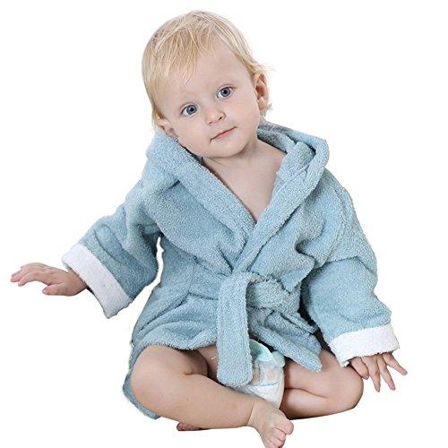 dingang® Baby Kapuzentuch Bademantel | Super Weich und Saugfähig Baumwolle Baby Bademantel mit Cute Shark Hoodie, perfekt für Baby 0bis 2Jahre, Hellblau (Mädchen Kinder Hoodie Stellen)