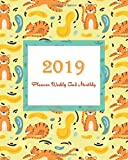 2019 Planner Weekly And Monthly: Tiger Cover, Weekly Organizer, Monthly Planner, January 2019 through December 2019 with Holiday