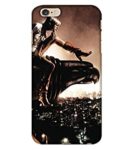 PrintHaat Designer Back Case Cover for Apple iPhone 6 Plus :: Apple iPhone 6+ :: Apple iPhone 6s Plus :: Apple iPhone 6s+ (brave girl dare to sit on large eagle's neck :: strong girl :: audacious lady)