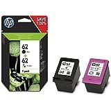 HP 62 2-pack Black/Tri-color Original Ink Cartridges (N9J71AE)