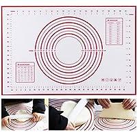 Estera de pasta de silicona de calidad alimentaria para la masa de rodillo Alfombrillas de silicona antiadherentes Estera de mostrador, tapete para masa, ...