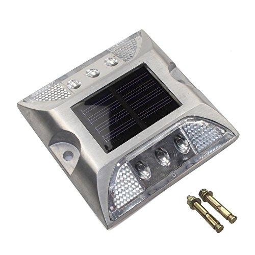 Cistwin bianco alluminio solare 6-led per esterni road pendio stradale per la pista a terra luce a terra cis-57658w