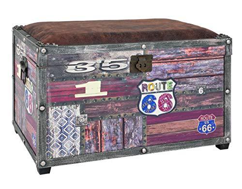HAKU Möbel Sitztruhe -  Gepolstert in Vintageoptik, Braun Höhe 38 cm