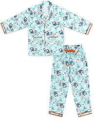ShopMozo - Multicolor Printed Boys Night Suit ( Boys Night Dress ) (SM-00154BOYSSWSS_Multicolor_2-3 Years)