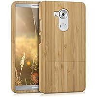 kwmobile custodia in legno naturale per il Huawei Mate 8 in bambù marrone