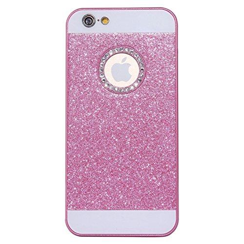 Für IPhone 6 / 6S, UV Shimmering Powder Diamond-verkrustet Schutzmaßnahmen harten Fall DEXING ( Color : Black ) Magenta
