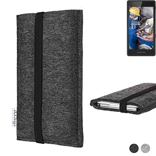 flat.design Handy Tasche Coimbra für Fairphone Fairphone 2 - Schutz Case Tasche Filz Made in Germany anthrazit schwarz