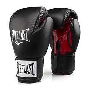 Everlast Rodney 1803 08 oz Gants de Boxe entraînement muscles pectoraux mixte adulte Noir/Rouge 30 cm