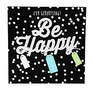 Depesche 8211.011Tarjeta de felicitación Glamour con Ornamento y Purpurina, cumpleaños