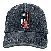 Gorgeous Socks Unisex Tractor & American Flag Vintage Jeans Baseball Cap Classic Cotton Dad Hat Adjustable Plain Cap