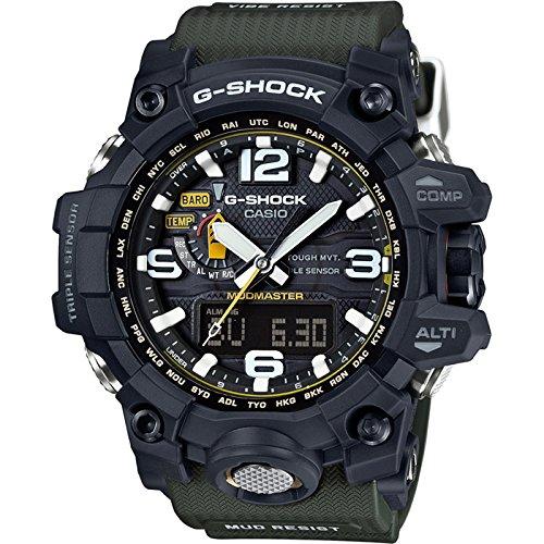 Casio G-Shock mudmaster Black-Tone Dial Resina Cuarzo Hombres del Reloj gwg1000–1A3
