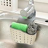 Upxiang Saugnapf Wannen Regal, Seifen Schwamm Abfluss Rack, Küchenkorb und Duschkorb, Küchen Sauger Aufbewahrungs Werkzeug (Beige)