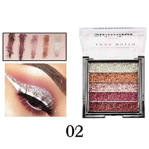 ShaDiao Lidschatten Glitzer Warm Matt Tone Eyeshadow Makeup Beauty Palette Kit Schimmern Sie Glitter Lidschatten Pulver Palette Matte Lidschatten Kosmetik Make-up