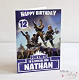 Fortnite inspired Birthday Card