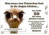 Moderne Einladungen zum Geburtstag mit Spruch - coole, lustige und witzige Karten - mit Wunschtext 100 Stück Din A6