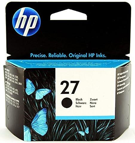 HP 27 Schwarz Original Druckerpatrone für HP Deskjet, HP Officejet, HP PSC