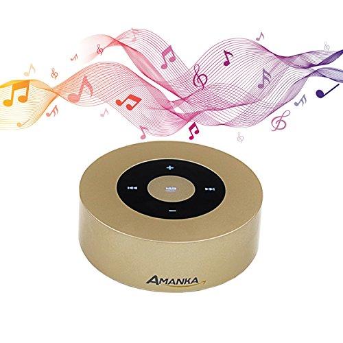 Bluetooth Lautsprecher, AMANKA Tragbarer Mini Touch Lautsprecher Speaker Starken Bass Freisprecheinrichtung Unterstützung TF Karten und 3.5mm Klinkenstecker für Smartphones/Tabletten / MP3 / MP4