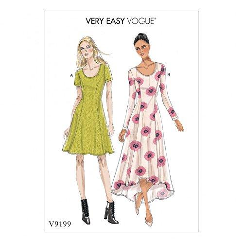 Vogue Damen Schnittmuster 9199Jersey Knit Fit & Flare Kleider - Flare Knit Kleid