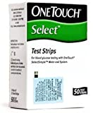 #7: Johnson & Johnson One Touch Select 50 Test Strips Glucometer, White