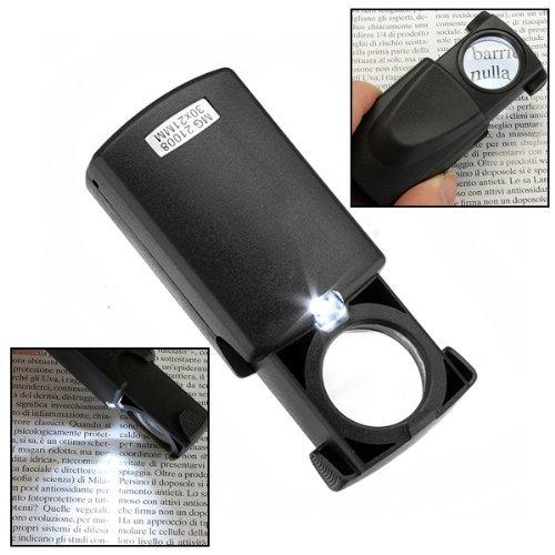 Illuminating und Aufhellung 30x LED Lupe für Schmuck Uhren Briefmarken Tickets (Schmuck-briefmarken)