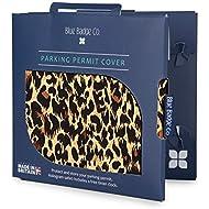 Blue Badge Company Disabled Leopard Cover Holder Hologram Safe Parking Permit Display Wallet