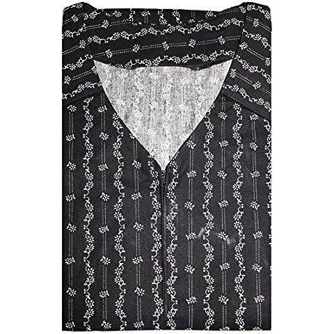 Delantal bata Tobeni con Reiss corchete 100 de algodón colorido o. En blanco y Negro hasta la talla 62,