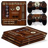 46 North Design pieno sticker della pelle skin Old Time Machine Clock per le console PS4 Pro x 1 e controller x 2