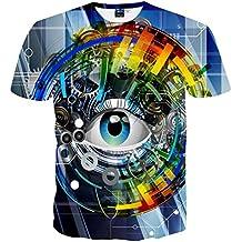 3D T SHIRT Brand T-Shirt Men/Women Digital Print Mechanical Gears Eyes T-Shirt Plus Size Summer Tops Tees