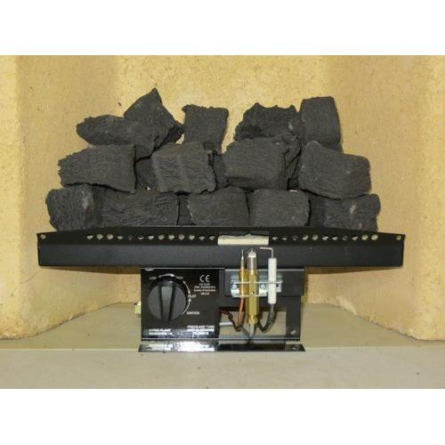 "51SVjnE7rqL. SS500  - 16"" Living Flame Gas Fire V2 Victorian Inset Fire Tray Coal Effect UK Manufactured, Black"