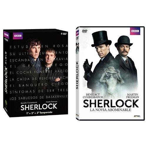 Pack Sherlock: Temporadas 1 a 3 + La Novia Abominable [DVD]
